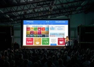 High Level Sustainable Development Goals  Business Conference Logo