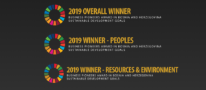 Call for the private sector companies to apply for the SDG Business Pioneers award in BiH for 2019 Logo