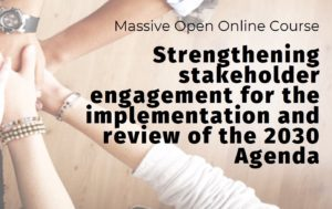 Strengthening stakeholder engagement for the implementation and review of the 2030 Agenda Logo