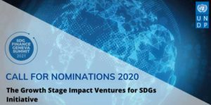 Call for Nominations: The Growth Stage Impact Ventures (GSIV) for SDGs Initiative Logo
